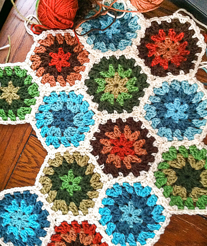 Crochet Patterns Galore Granny Hexagon Afghan