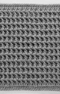 Front Post Double Crochet Square for Checkerboard Textures Throw
