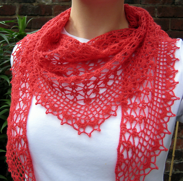 Crochet Patterns Galore Summer Sprigs Lace Scarf