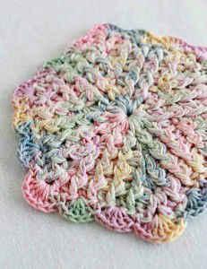 Crochet Patterns Galore Vintage Pastels Coaster