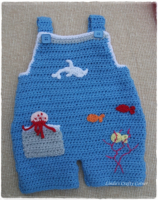 Crochet Patterns Galore - Sweet Baby Dungarees