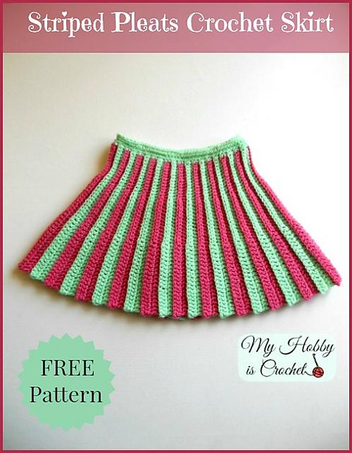 crochet patterns galore pleated mini skirt