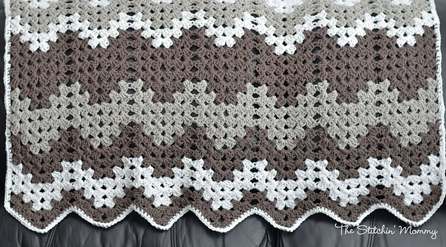 Crochet Patterns Galore - Random Stripe Granny Ripple Afghan