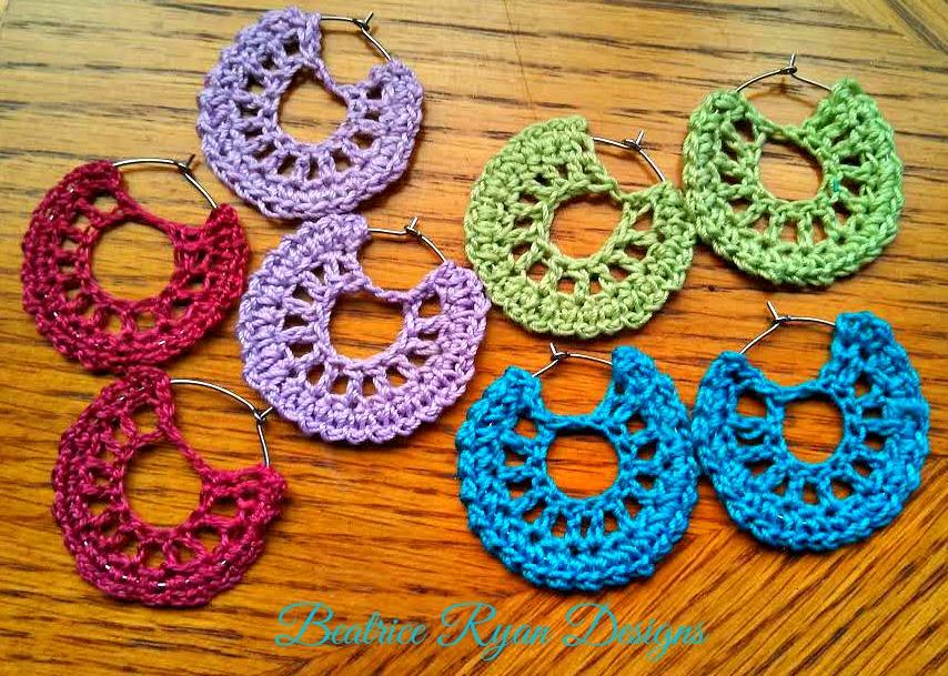 Crochet Patterns Galore Simple Summertime Crochet Earrings