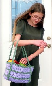 Lilac and Sage Tote Bag