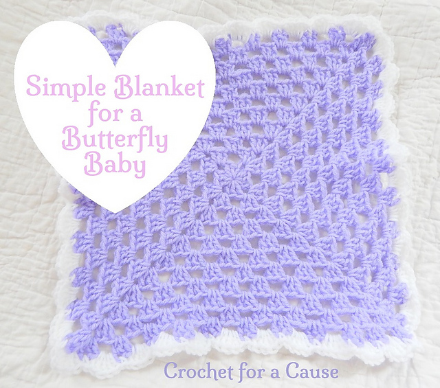 Free Crochet Pattern For Butterfly Baby Blanket : Crochet Patterns Galore - Simple Blanket for a Butterfly Baby