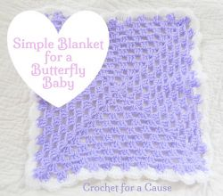 Simple Blanket for a Butterfly Baby