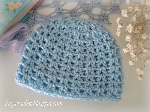 Crochet Patterns Galore V Stitch Newborn Beanie