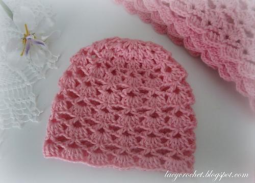 Crochet Patterns Galore Lacy Shells Baby Hat