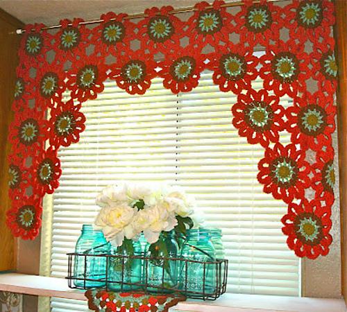 Crochet Patterns Galore Flower Power Valance