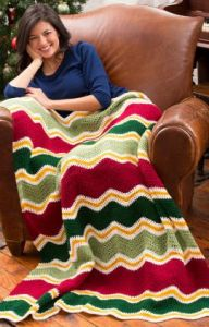Holiday Chevron Throw