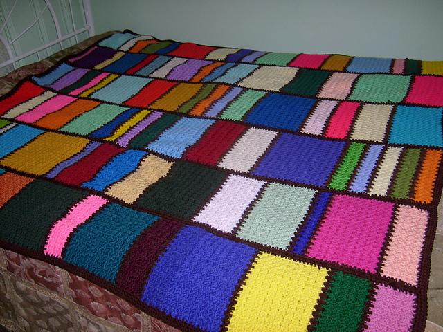 Crochet Patterns Galore Meemaws Scrap Afghan