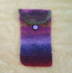 Felted Noro Eyeglass Case