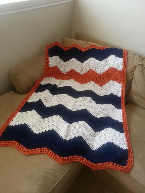 Crochet Patterns Galore Chevron Baby Blanket