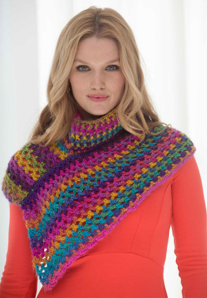 Crochet Patterns Galore - Asymmetrical Neckwarmer