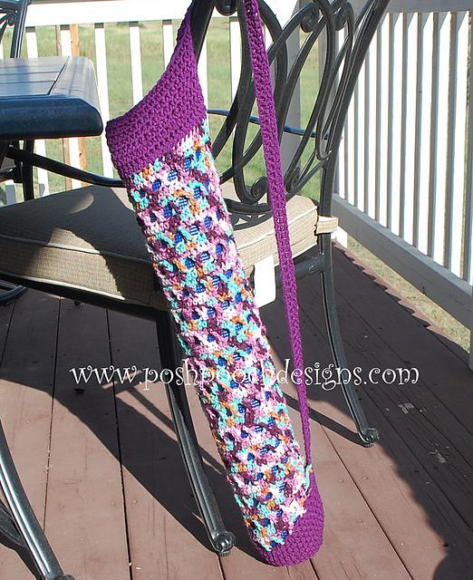 Crochet Patterns Galore Cross Stitch Yoga Mat Bag