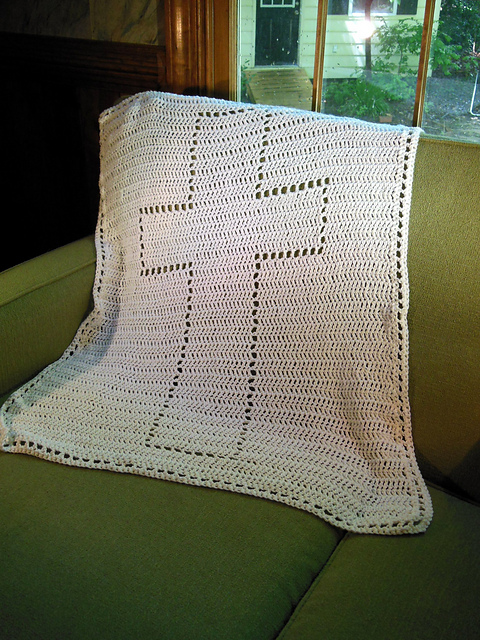 Crochet Patterns Galore Cross Baptism Blanket