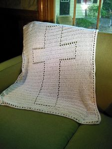 Cross Baptism Blanket