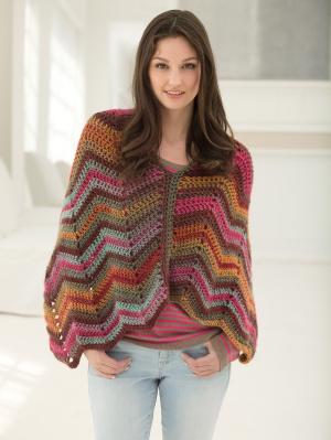 Crochet Patterns Galore Sunset Poncho