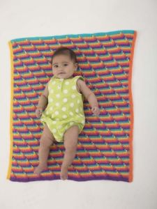 Pop Art Baby Afghan