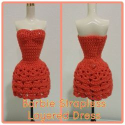 Barbie Strapless Layered Dress