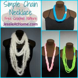 Simple Chain Stitch Necklace