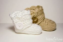 Infant wrap around  boots