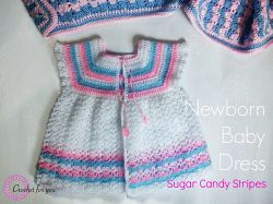 Sugar Candy Stripes: Newborn Baby Dress