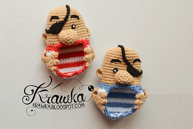 Crochet Patterns Galore - Pirates Baby Booties