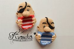 Pirates Baby Booties