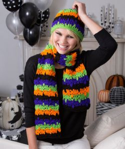 Jittery Stripes Hat & Scarf