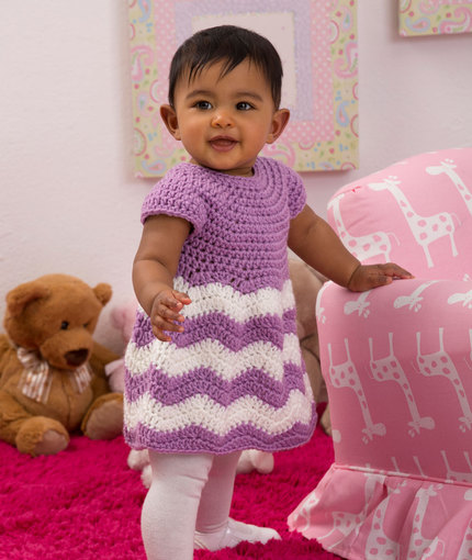 Crochet Patterns Galore Chevron Chic Baby Dress