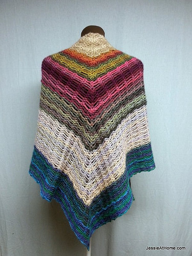 Crochet Patterns Galore : Crochet Patterns Galore - Unchained Shawl
