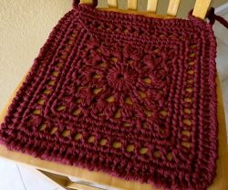 Granny Square Chair Pad