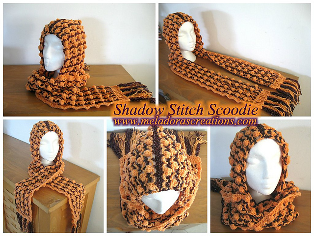 Crochet Patterns Galore Shadow Stitch Scoodie