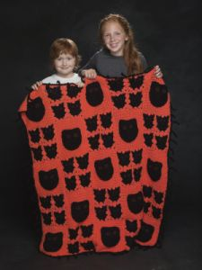 Bats And Cats Afghan