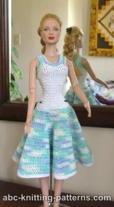 Crochet Summer Dress for Fashion 16 inch Dolls by Robert Tonner