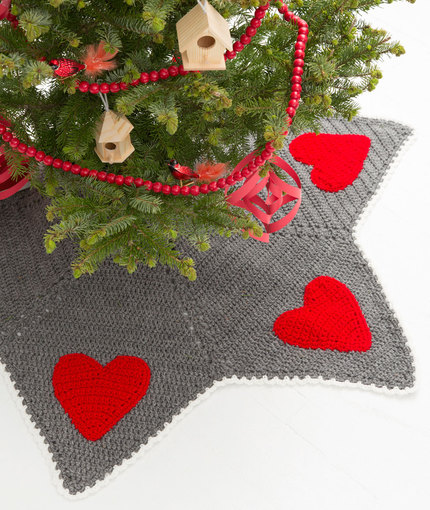 Crochet Patterns Galore Holiday Hearts Tree Skirt