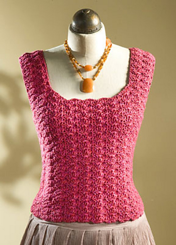 Free Crochet Toddler Tank Top Pattern : Crochet Patterns Galore - Tank Top With Shell Stitch