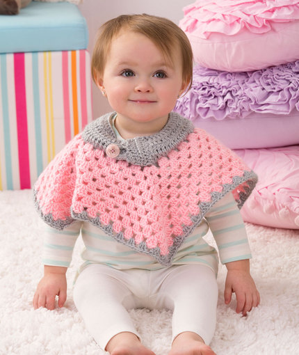 Crochet Patterns Galore - Sweet Baby Poncho
