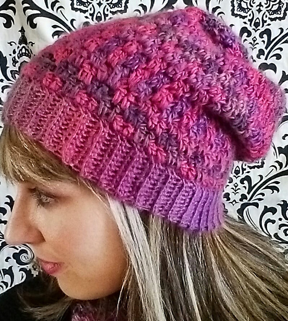 Crochet Patterns Galore Double Drop Slouchy Hat