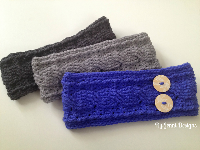 Crochet Patterns Galore - Cable Ear Warmer