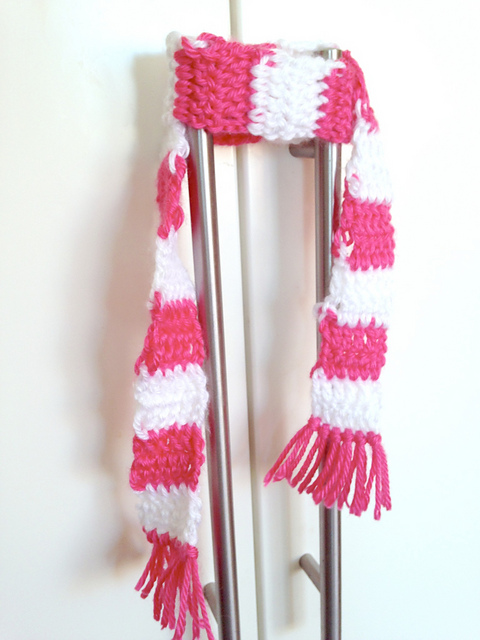 Crochet Patterns Galore 18 Inch Doll Striped Scarf