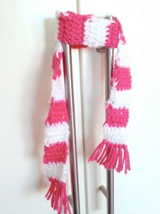 18 inch Doll Striped Scarf