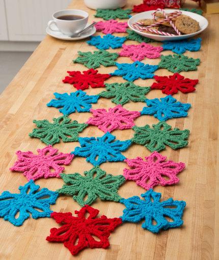 Crochet Patterns Galore Snowflake Table Runner