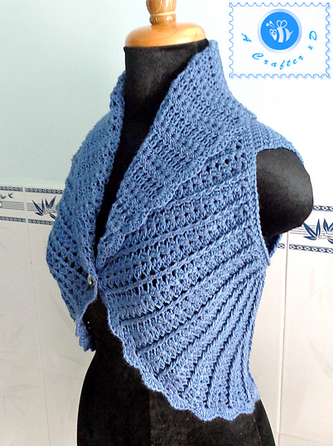 Crochet Patterns Galore : Crochet Patterns Galore - Shawl Cir-Collar Vest