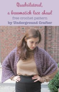 Quadrilateral, a Broomstick Lace Shawl