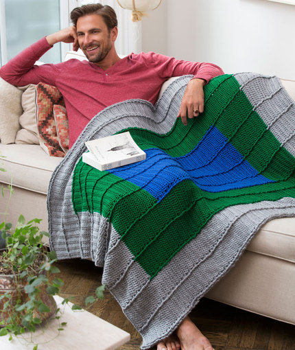 Crochet Patterns Galore - Guy s Reversible Throw