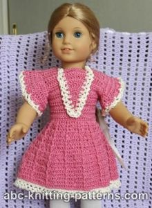 American Girl Doll Crochet Summer Dress
