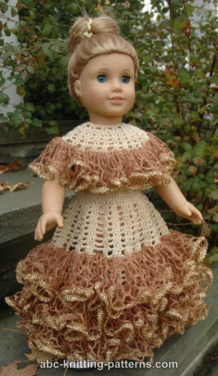 Crochet Patterns Galore American Girl Doll Southern Belle Dress Ii